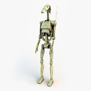 battle droid star wars 3d model