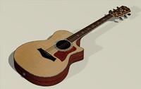 3d taylor 814ce 914ce guitar model
