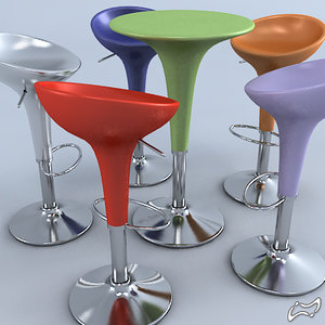 3d model bombo stool table