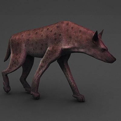 3d super hyena crocuta