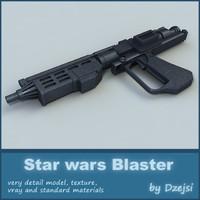 3d model blaster star wars