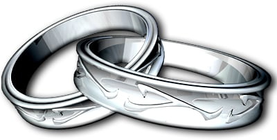 silver ring 3d c4d