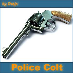 3d colt pistol gun