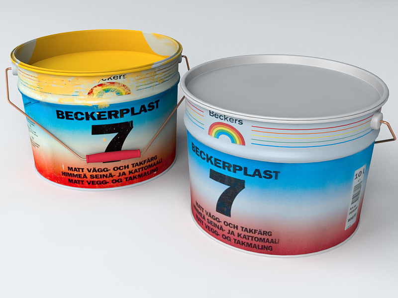paint buckets 3d model
