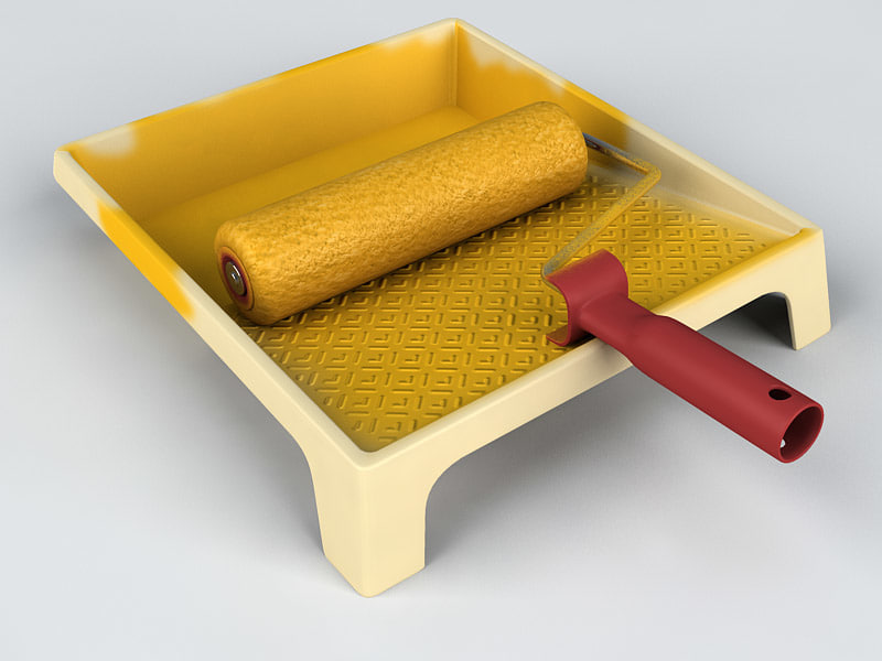 3ds max paint roller