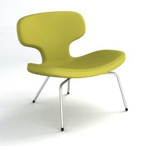 3d model of libel chair rene holten