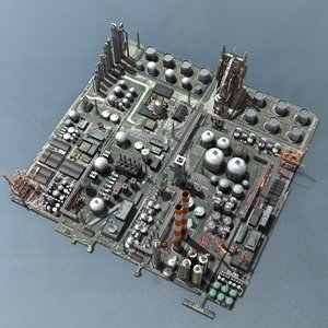 3ds max industrial factory