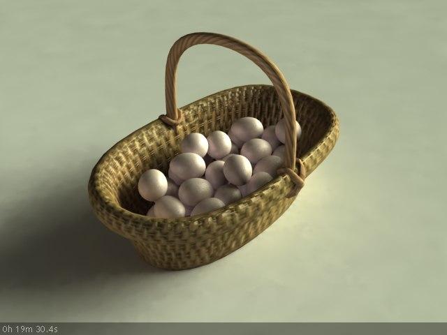 3d egg basket model