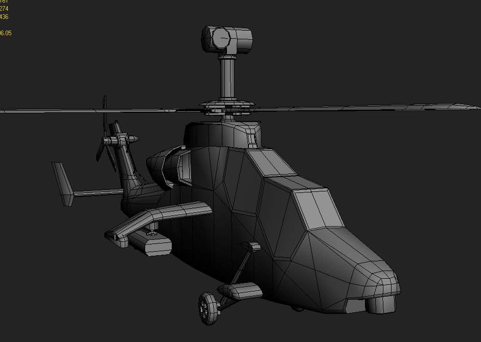 3d eurocopter tiger games model
