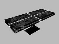 3d sci-fi table model