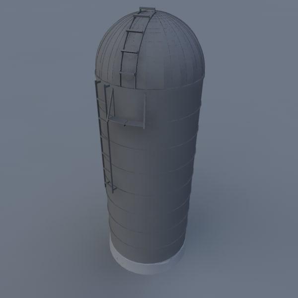 farm silo 3d model