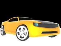 3d model concept car chevrolet