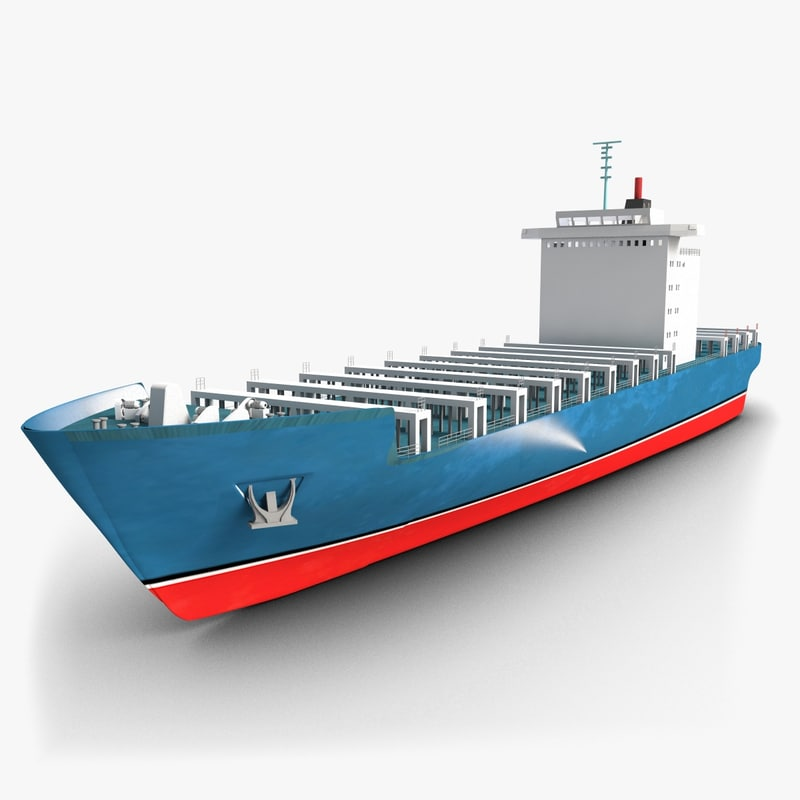 3ds max container ship