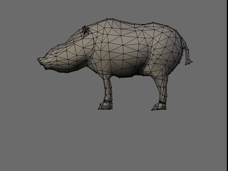 boar pig 3d 3ds