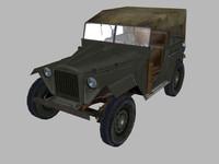 3d ww2 jeep gaz67