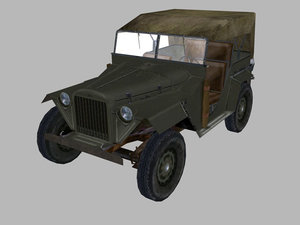 3d ww2 jeep gaz67