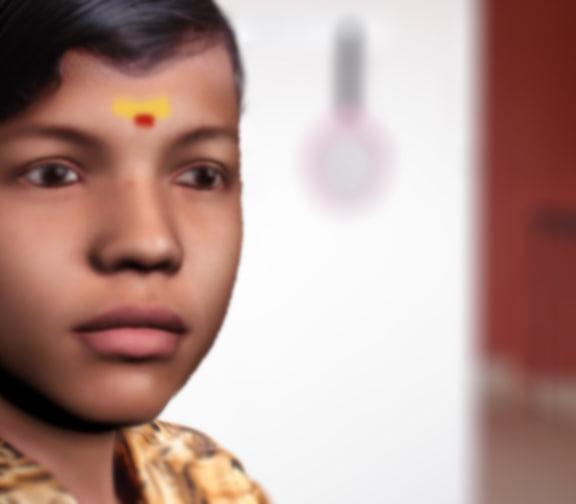 indian boy head 3d 3ds