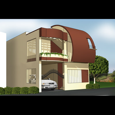 3d max designer house
