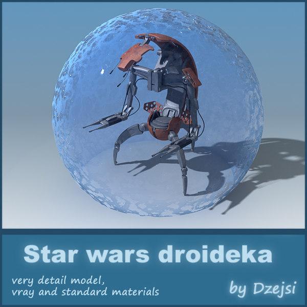 3d model droideka star wars