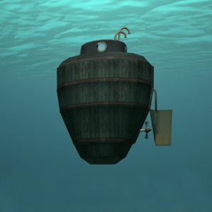 3dsmax turtle u-boat