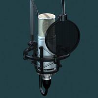3ds max studio condenser microphone