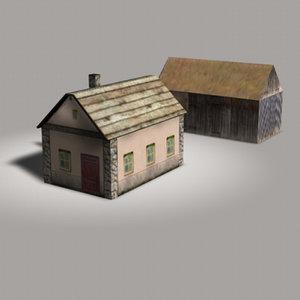 3d farmhouse barn