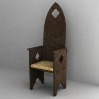 3d model gothic chair