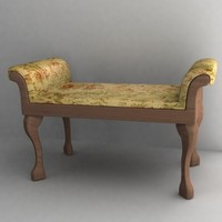 3d model antique sofa