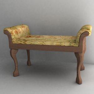 3d model antique sofa