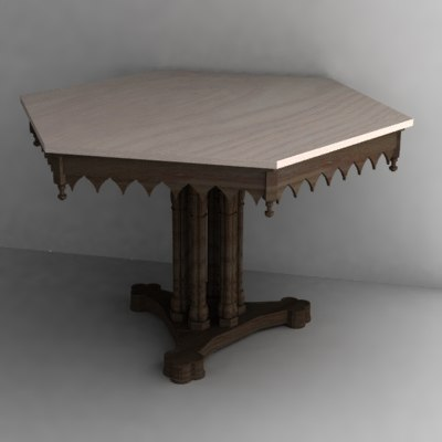3dsmax gothic table