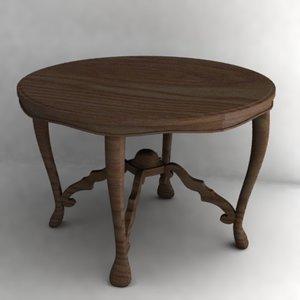 3d model antique table