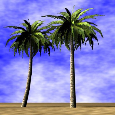 3ds palmtrees palms