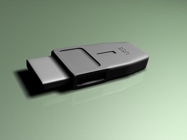 3d usb model
