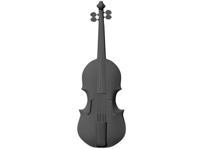 violin strings 3d model