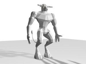 3d model minotaur