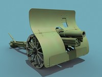 3d model of russian gun wwi