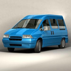 small bus euro 3d model