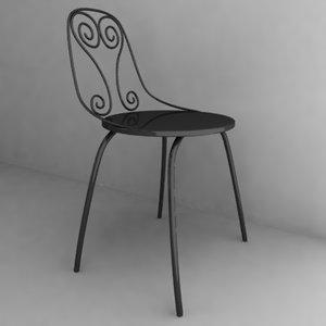 3d model of antique chair