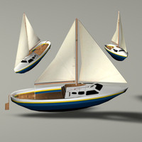 3ds max little sailboat boat