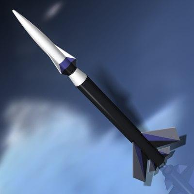rocket launch 3d model