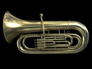3d musical instrument tuba model