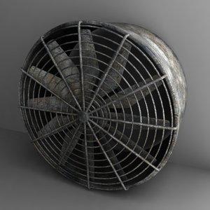 fan large 3d dxf
