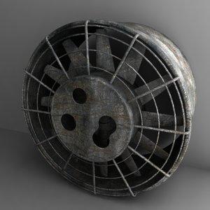 large fan obj