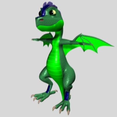 3d little dragon