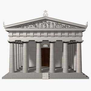 greek doric temple 3d model