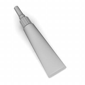 3d model tube gel