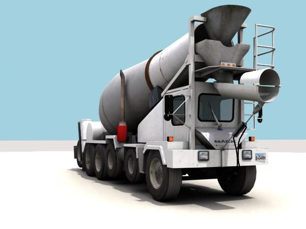 discharge cement mixer 3d model