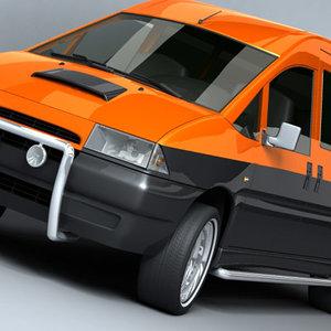 3d model van custom
