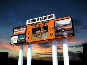 football scoreboard zipped 3d model