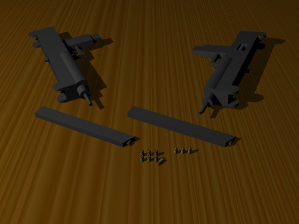 free uzi sub-machine gun 3d model